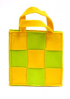Torba filcowa w kratke S_E2493 Y_20x9cm x20-28cmH_yellow and