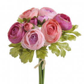 81CAN11701D Ranunculus bukiet 25cm 12pcs pink mix