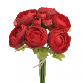 81CAN11701D Ranunculus bukiet 25cm 144-12pcs red