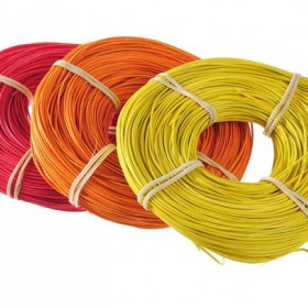 RCRDCL-1,5 Rattan  1.5mm 75g x  bright red (485U2), bright or (1505U), light yl (107U)