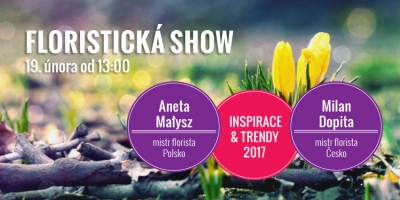 Pozvánka na floristickou show dne 19. 2. 2017 od 13.00!