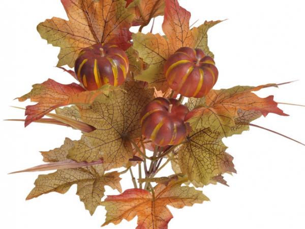 Dekorační materiál v podzimních barvách