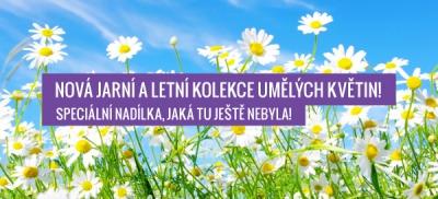 Nová jarní a letní kolekce umělých květin! Slevy až 35%!